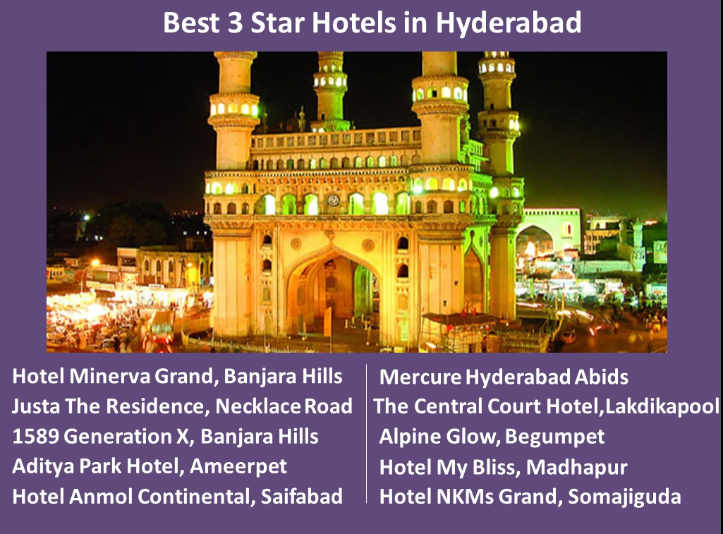 Best 3 Star Hotels in Hyderabad