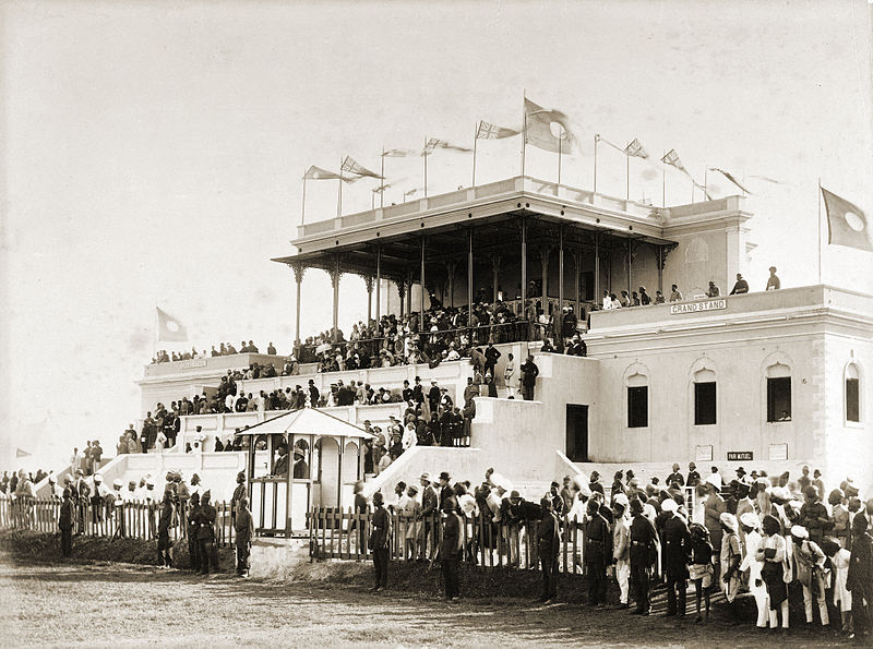 Hyderabad Race Club - Grand Stand Malakpet. Image taken on 01-Jan-1880 by Deen Dayal