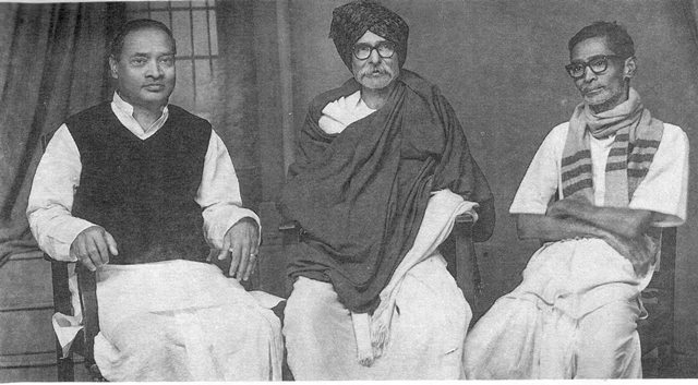 Rare pic of Kaloji, PV Narasimha Rao and Pamulaparthi Sadasiva Rao taken in the year 1975
