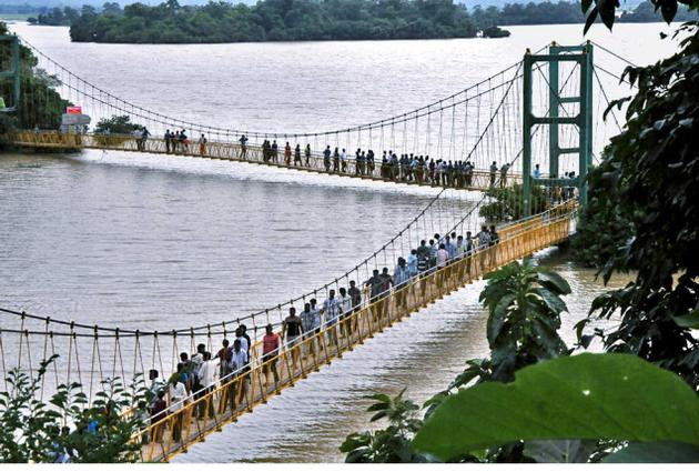 Bridge at Laknavaram Lake Warangal