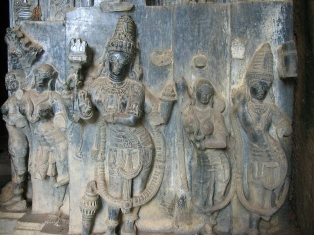 Carvings on Pillars at Ghanpur Group of Temples