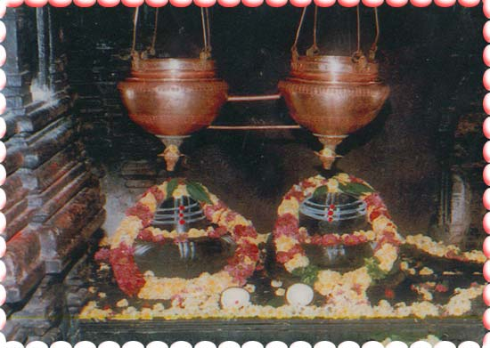 Two Shiva Lingams at Sri Kaleshwara Mukteswara Swamy Temple Kaleshwaram