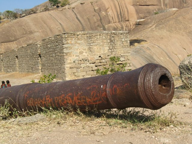 Abondoned Cannnon at Bhongir Fort