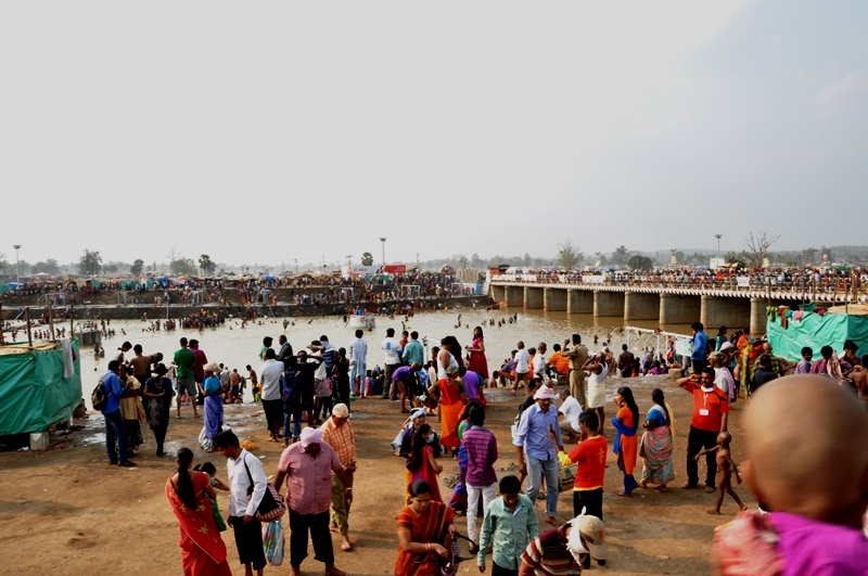 View of Jampanna Wagu at Medaram
