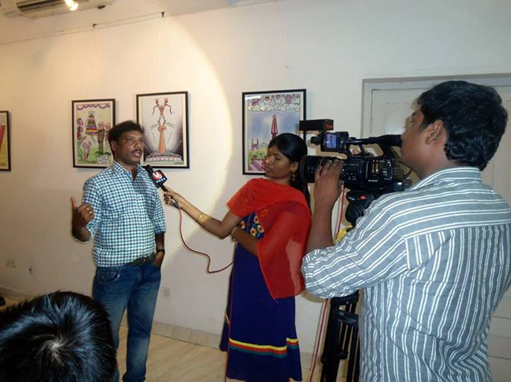 Mrityunjay speaking to a Media channel