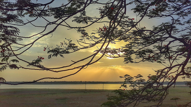 Lake Side Sunset at Himayat Sagar Lake