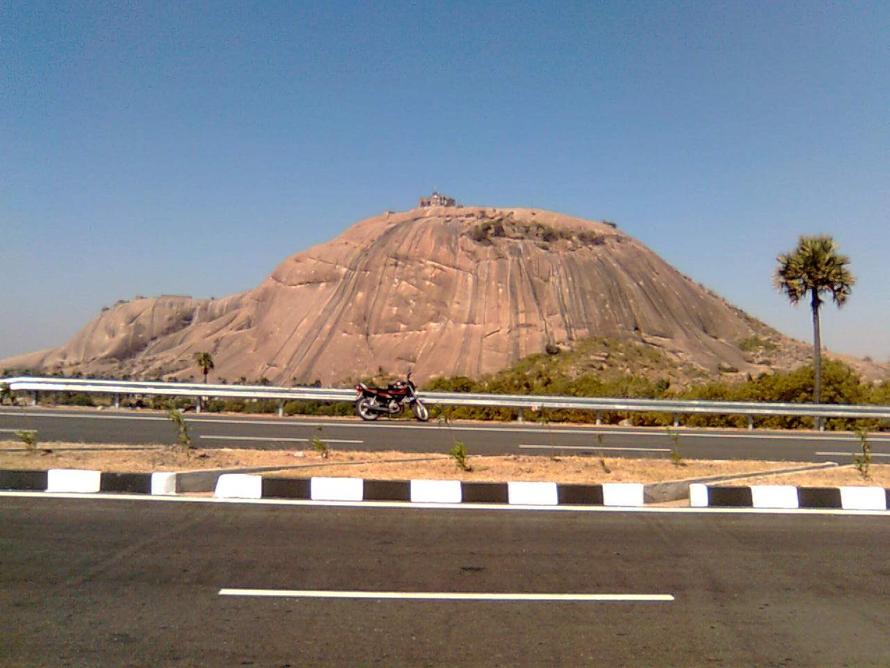 Hyderabad to Warangal Highway (NH163) - Bhongir Fort Hill view