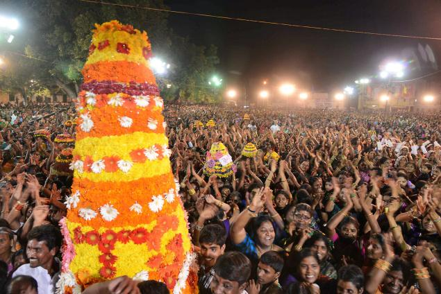 Bathukamma Celebrations at Bhongir