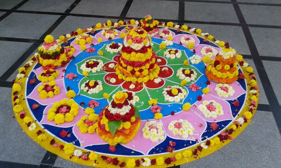 Bathukamma at Registration Bhavan Mouzam Jahi Market, Hyderabad