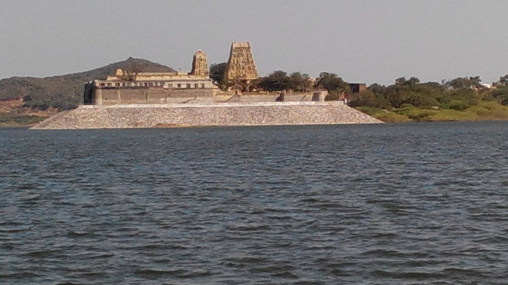 View of Sri Ranganayaka Swamy Temple and Ratna Pushpakarini Lake