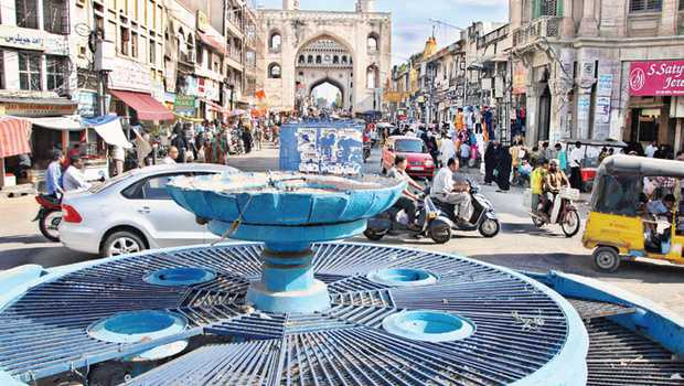 Gulzar Houz Fountain near Charminar
