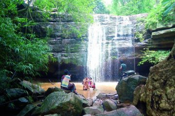 Bheemuni Padam Waterfalls in Telangana