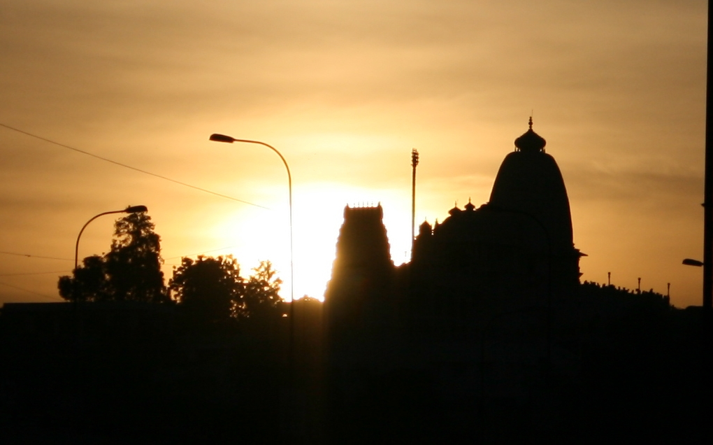 Birla Mandir Hyderabad at Sunset