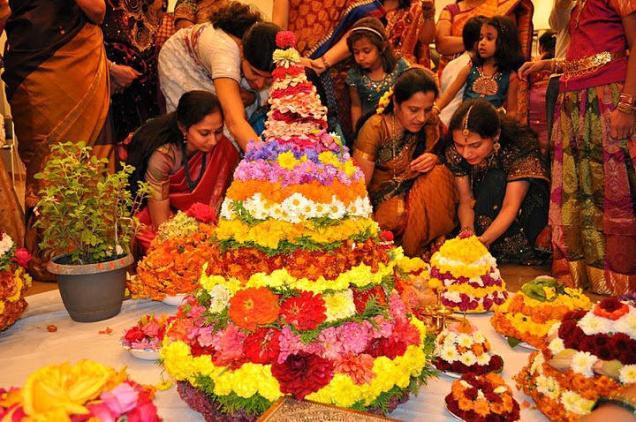 Making of Pedda Bathumma - Bathukamma Festival