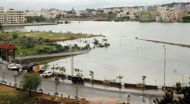 Waterfull Durgam Cheruvu Lake Hyderabad