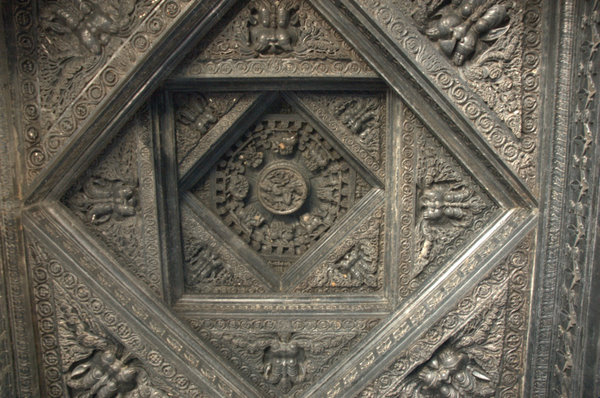 Carvings on Roof at Thousand Pillar Temple