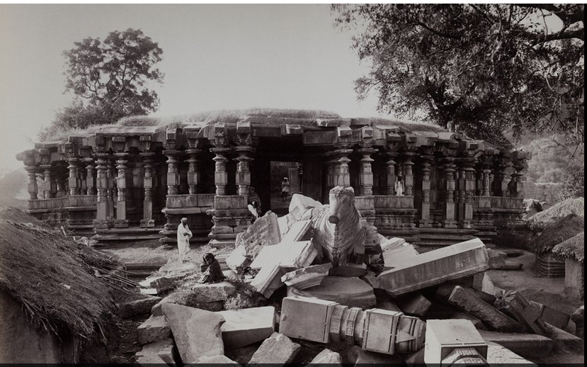 Rare Image of Thousand Pillar Temple taken in the year 1887-1888 by Deen Dayal