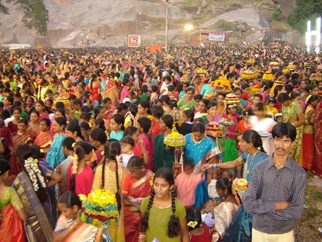 Bathukamma Celebrations at Padmakshi Temple Hanamkonda