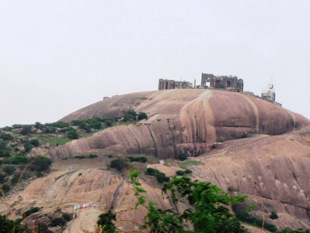 Bhongir Fort View from the ground