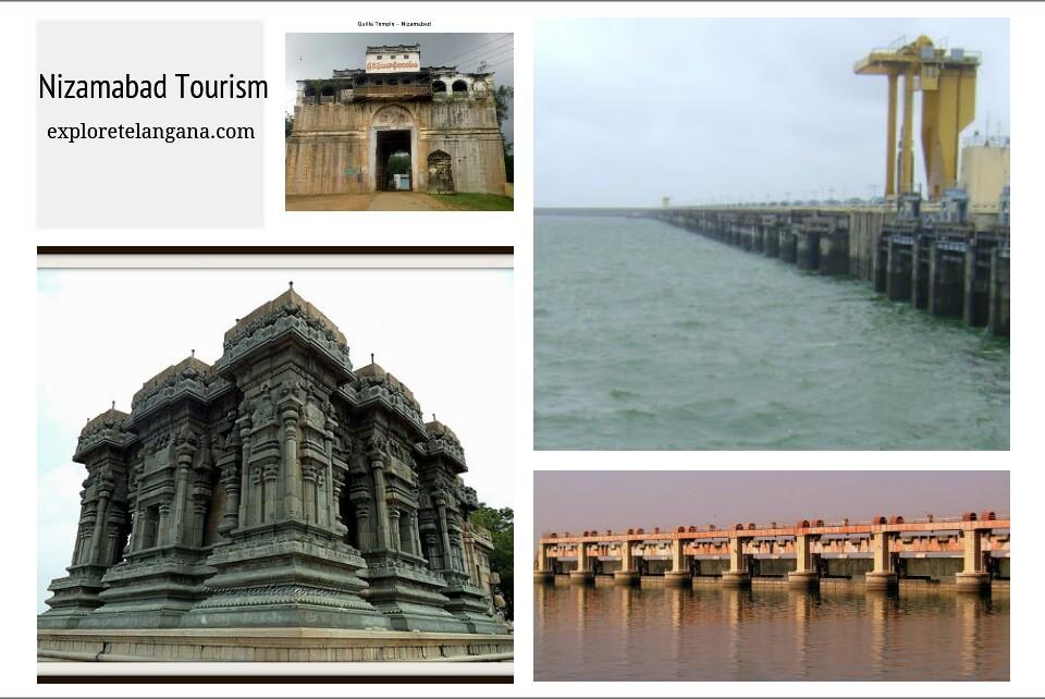 Nizamabad Tourism - Places to visit in Nizamabad - Sriramsagar Dam, Dichpally Ramalayam, Nizamsagar Dam