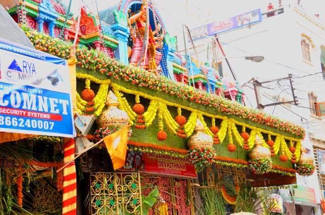 Flower Decoration in Ujjaini Mahankali Temple Secunderabad
