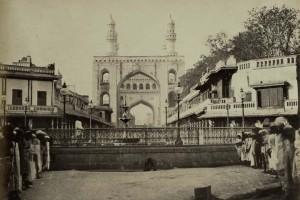 Gulzar Houz Fountain near Charminar in 1890