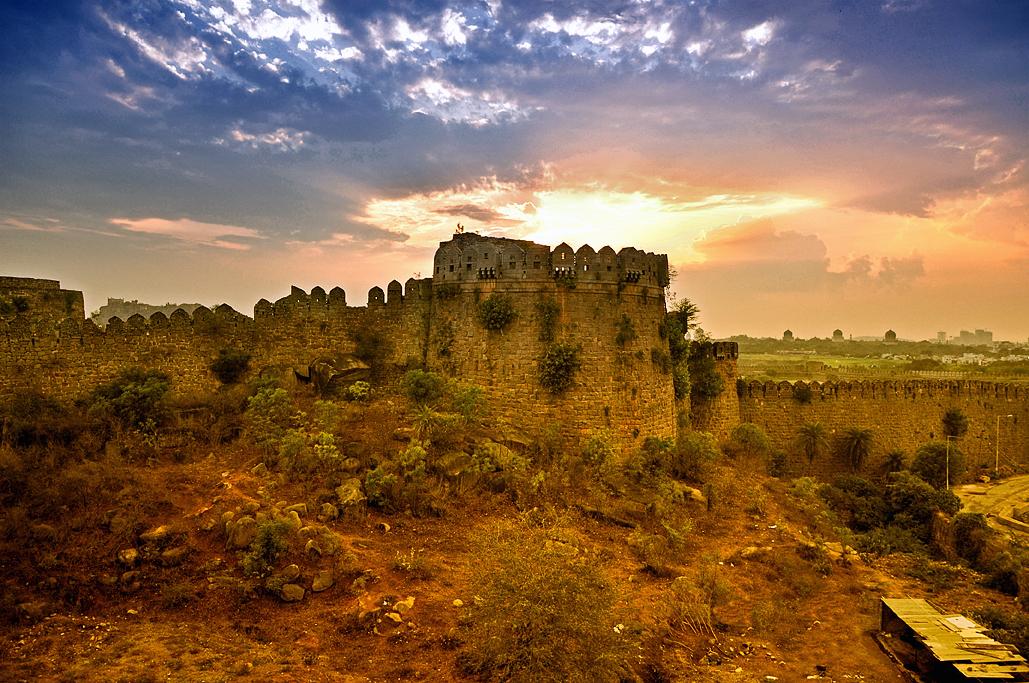 Golconda Fort Hyderabad_Sunset Views in Hyderabad